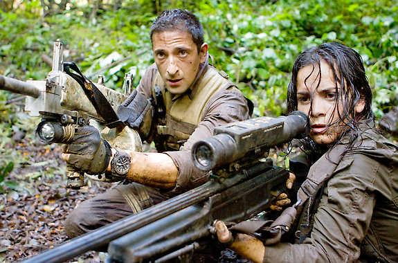 Adrian Brody and Alice Braga in 'Predators'