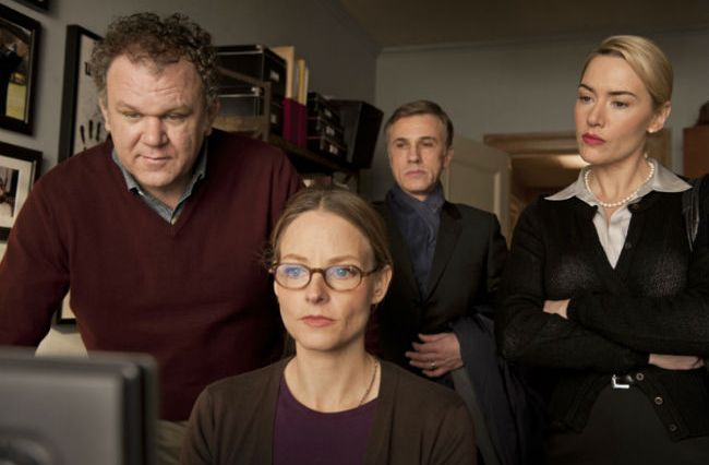 John C. Reilly, Jodie Foster, Christoph Waltz, and Kate Winslet in 'Carnage'
