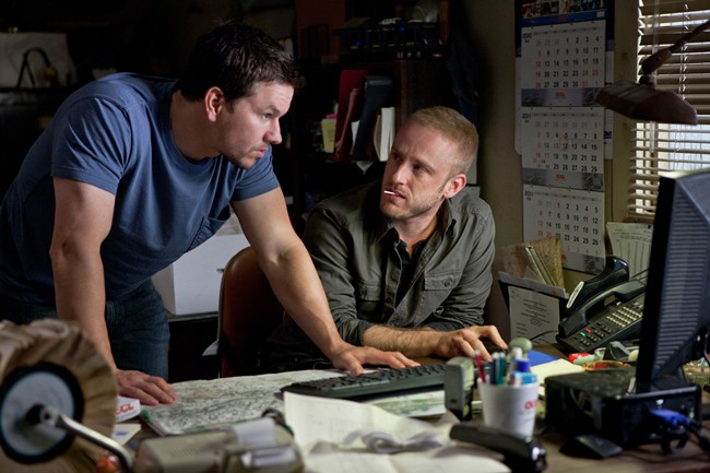 Mark Wahlberg and Ben Foster in 'Contraband' (Universal Pictures)