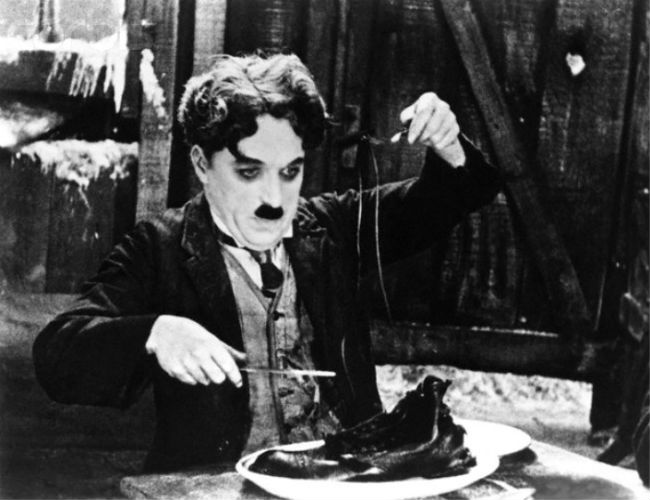 Charles Chaplin in 'The Gold Rush'