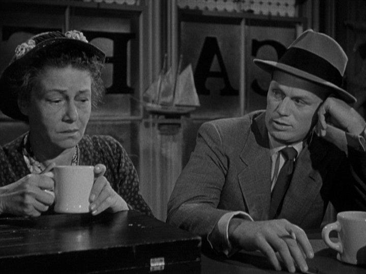 Thelma Ritter and Richard Widmark in Samuel Fuller's 'Pickup on South Street'