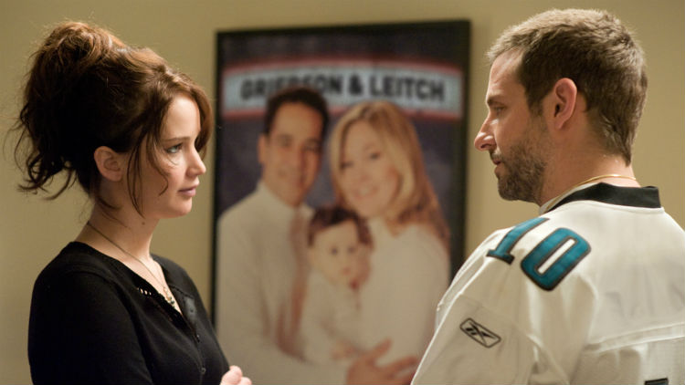Jennifer Lawrence and Bradley Cooper in 'Silver Linings Playbook'