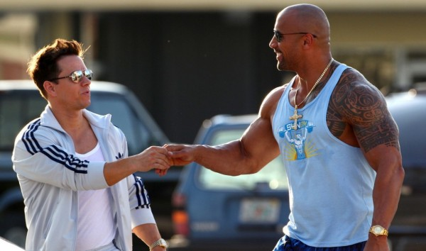 Mark Wahlberg and Dwayne Johnson in Michael Bay's 'Pain & Gain'