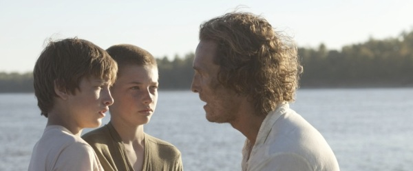 Matthew McConaughey, Tye Sheridan, and Jacob Lofland in Jeff Nichols' 'Mud'