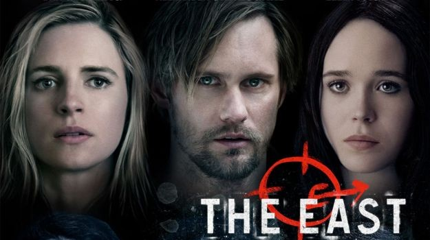 Brit Marling, Alexander Skarsgard, and Ellen Page in 'The East'