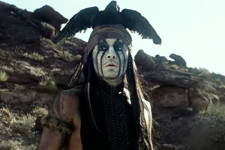 Johnny Depp as Tonto in 'The Lone Ranger' (Disney)