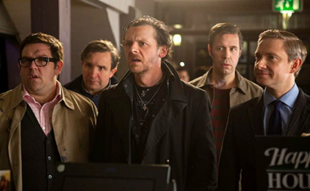 Simon Pegg, Nick Frost and company in Edgar Wright's 'The World's End' (Focus Features)