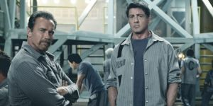 Sylvester Stallone and Arnold Schwarzenegger in 'Escape Plan' (Summit)