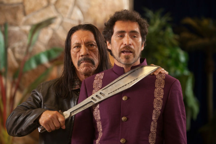 Danny Trejo and Demian Bichir in Robert Rodriguez's 'Machete Kills'