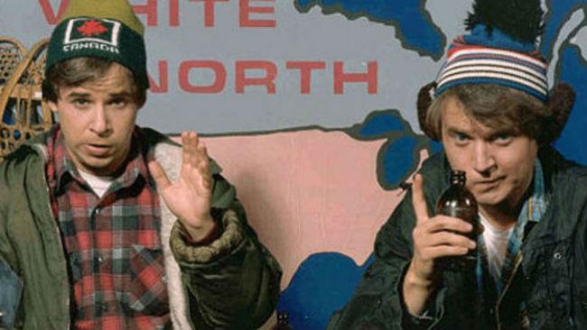 Rick Moranis and Dave Thomas in 'Strange Brew'