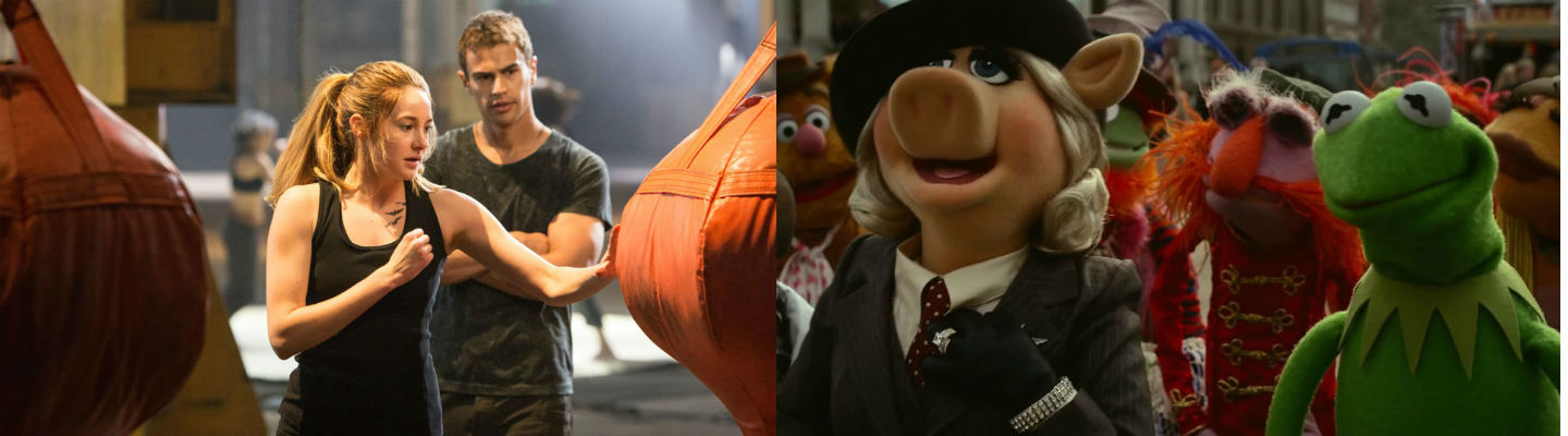 'Divergent' and 'Muppets Most Wanted'