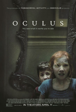 Karen Gillan and Brenton Thwaits in 'Oculus' (Relativity Media)