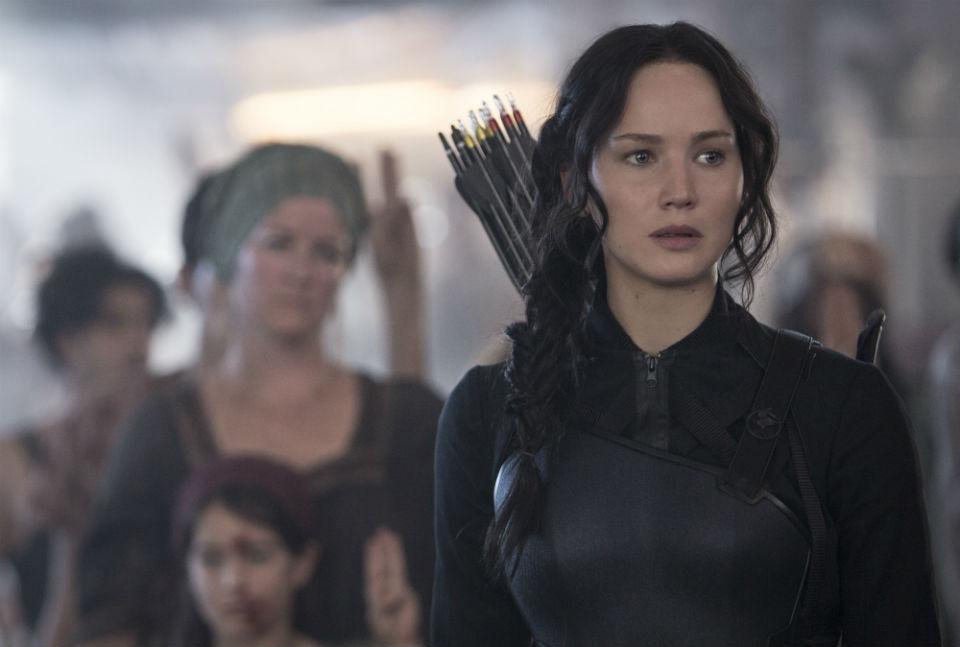 Jennifer Lawrence in 'The Hunger Games: Mockingjay - Part 1'