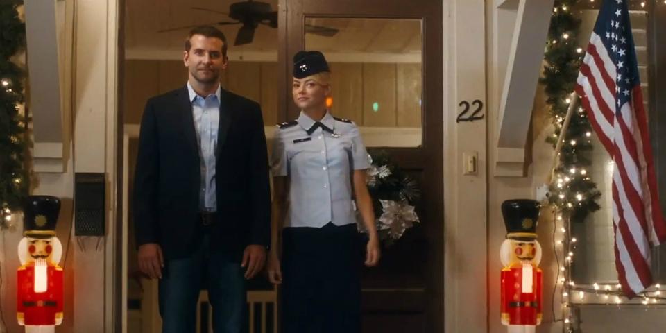 Bradley Cooper and Emma Stone in 'Aloha'